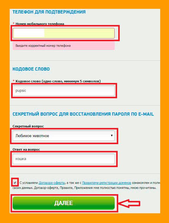 Регистрация 2domains