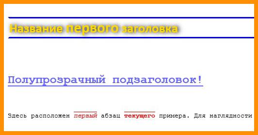 Пример html шрифта
