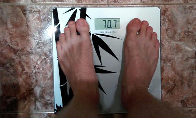 Мой вес на 30 декабря 2016 года
