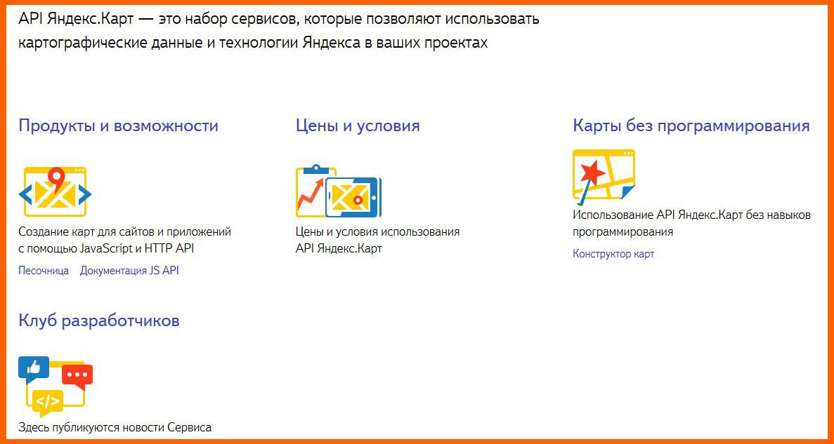api Карты от Яндекса